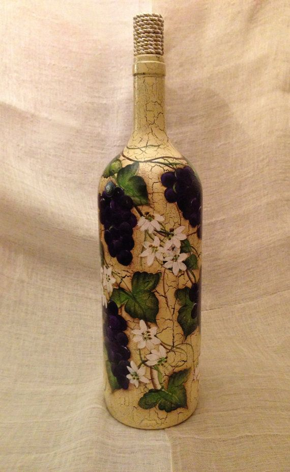1000 images about hand painted glass bottles on pinterest for Hand painted glass bottles