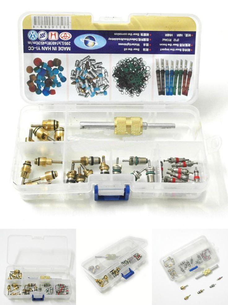 [Visit to Buy] Auto AC Repair kit HVAC Valve Core Key+ Dual Remover Installer Tool Set for Regal, Beverly, Vw, Toyota, VW, Elantra, R134a R12 #Advertisement