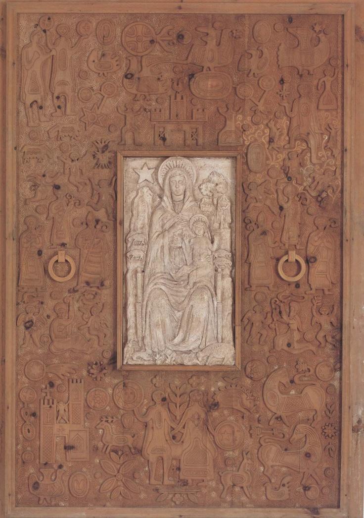 eugenio #tavolara - portale della Madonna della Solitudine a #Nuoro