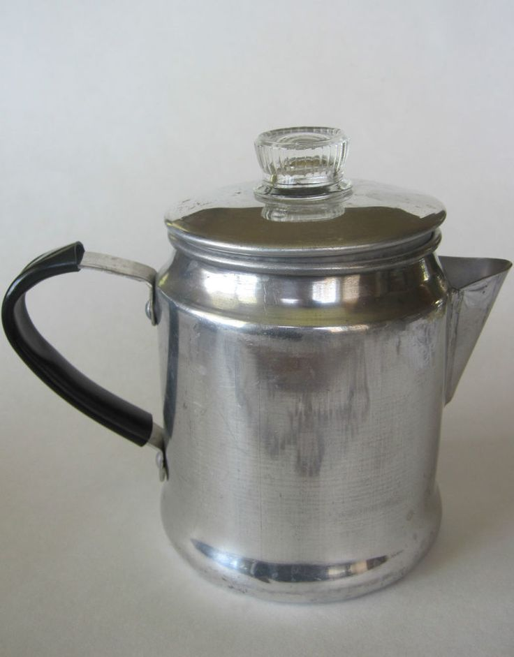 Small One Cup Aluminum Coffee Pot Percolater Camping Vintage Japan For the Home Pinterest ...