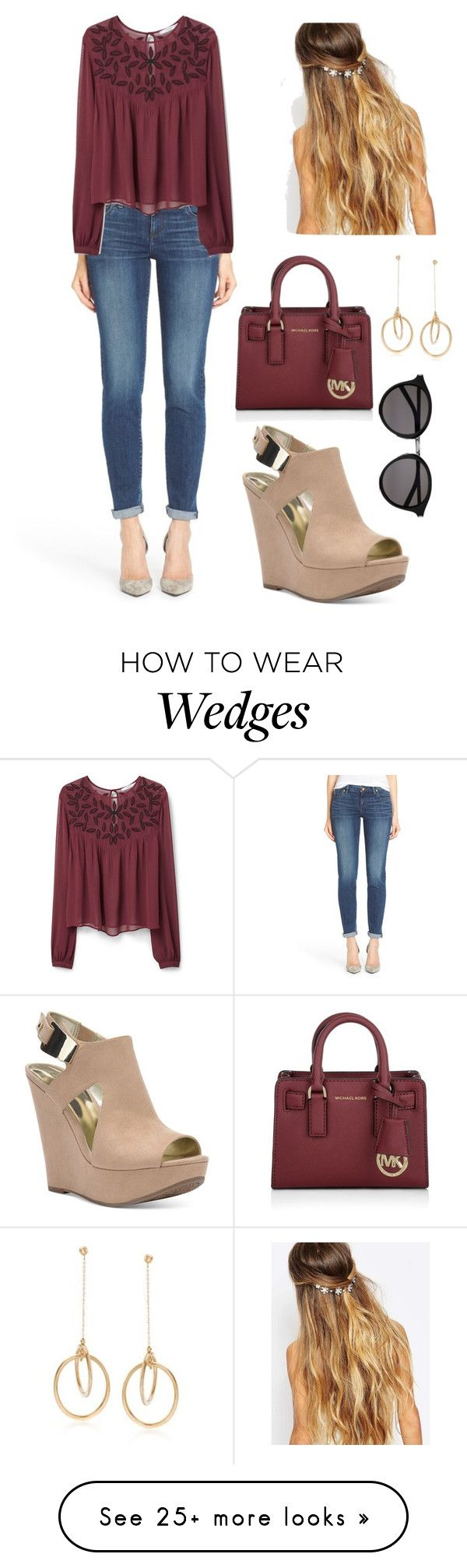 """""""Casual"""" by aowens99 on Polyvore featuring KUT from the Kloth, MANGO, Johnny Loves Rosie, Carlos by Carlos Santana, Yves Saint Laurent, Michael Kors, Ross-Simons, women's clothing, women and female"""
