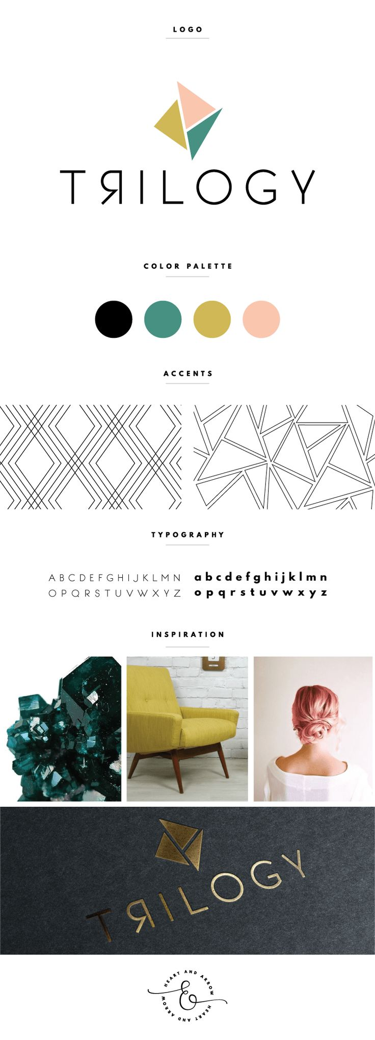 Geometric Logo Design Inspiration. i like the backwards R that is happening. it does give a geometric feel and goes with the shapes that are above, the colour palette is soft and not so hard to the eye.