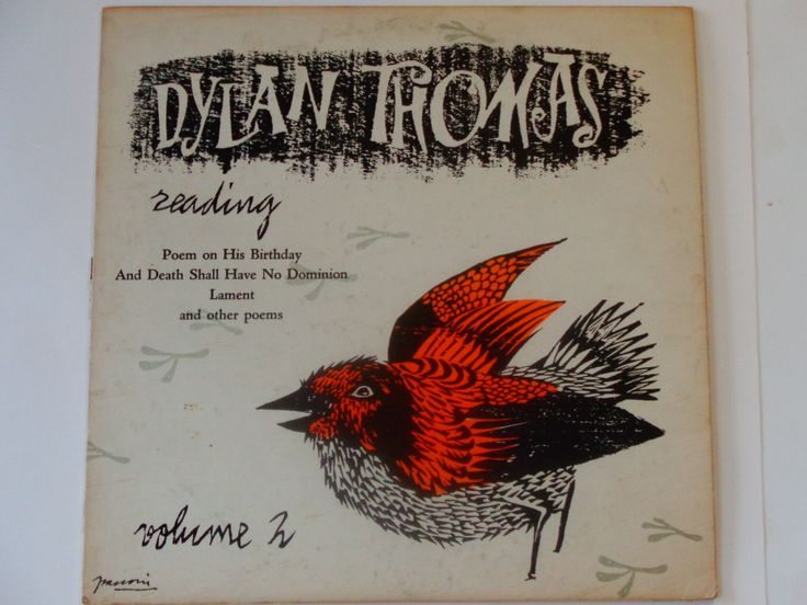 Dylan Thomas Reading Volume 2 - Poem On His Birthday - Lament - Frasconi - Caedmon Records 1957 - Antique Vinyl LP Poetry Record Album by notesfromtheattic on Etsy