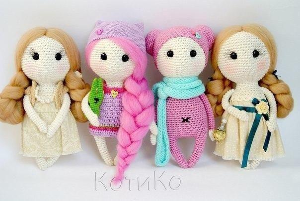 Амигуруми , вязаные куклы крючком
