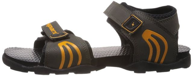 NimbleBuy: Sparx Men's Black Sandal(BEST BUY)