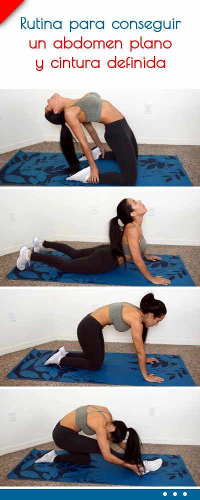 Rutina para conseguir un abdomen plano y cintura definida