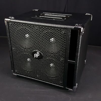 Phil-Jones-Bass-PJB-Compact-4-C-4-Bass-Amp-Amplifier-Cabinet-BLACK-w-cover