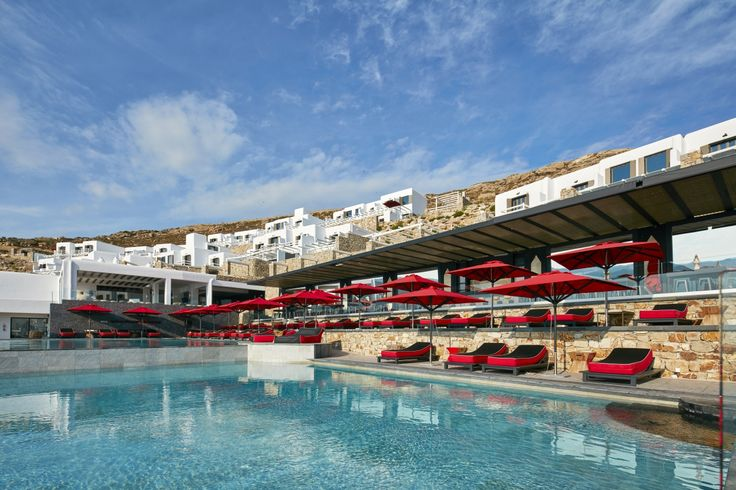Immersed in blue at the Myconian Avaton Resort!