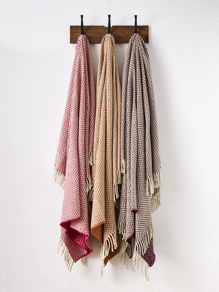 Pure Wool Mantecas Blankets.  Same pattern, different colours