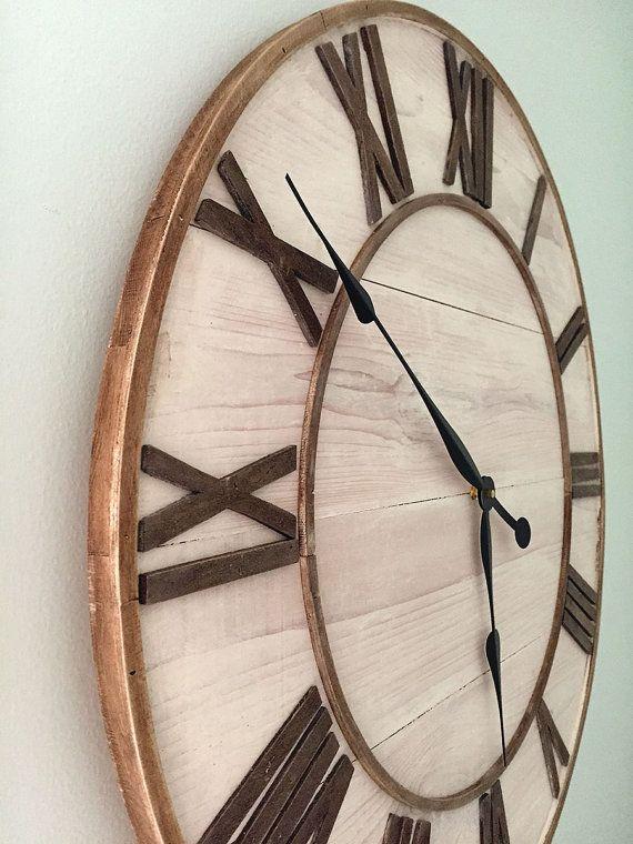 farmhouse wall clock 26 shabby chic clock wall by