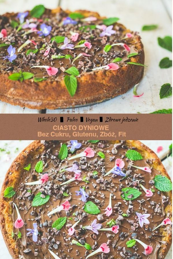 ciasto dyniowe, zdrowe słodycze bez cukru, bez glutenu. bez zbóż, paleo i vegan. Fit słodkości, ciasto, tort, rawcake, pumpkin pie