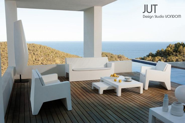 salon de jardin jut 1 sofa 2 fauteuils butaca 1 table