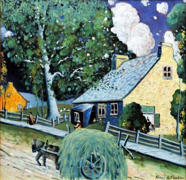 Marc-Aurèle FORTIN - Rue de village Ste-Rose (c. 1925)