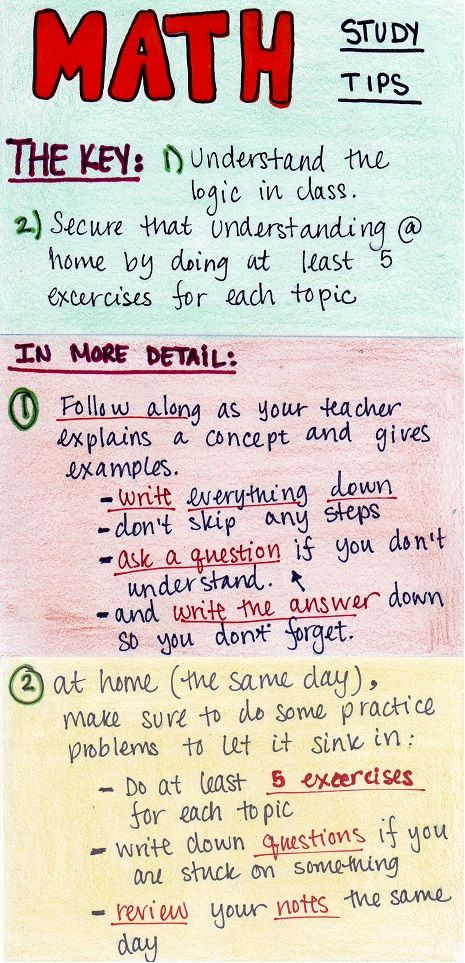 HOW TO STUDY FOR MATH. (!!!!!!!!!!!!!!!!!!)