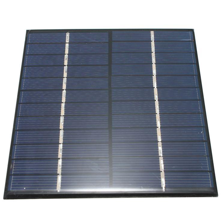 Haute qualité 12 V 2 W 160mA Polycristallin de silicium Mini Panneau Solaire module Cellulaire Pour Chargeur DC Batterie DIY 136x110mm