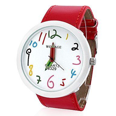 Great teacher's watch - Women's PU Analog Quartz Wrist Watch (Red) – USD $ 6.99