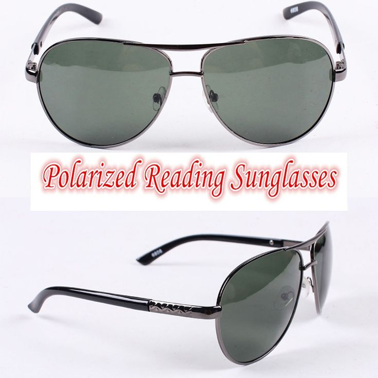 polarized reader sunglasses nfh6  Polarized reading sunglasses!!! pilot Polarized square large frame mens  sunglasses with test card to Sunglasses from Men's Clothing & Accessories  on