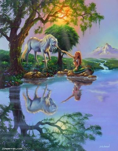 """""""If Only You Believe"""" fantasy art by Jim Warren (U.S. artist,  born 1949)"""
