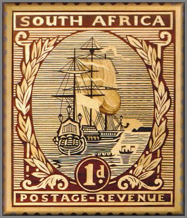 South African 1d Postage Stamp