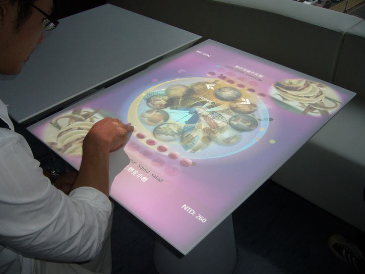projected capacitive touch technology brings multi touch table service to mojo restaurant - Multi Restaurant Design