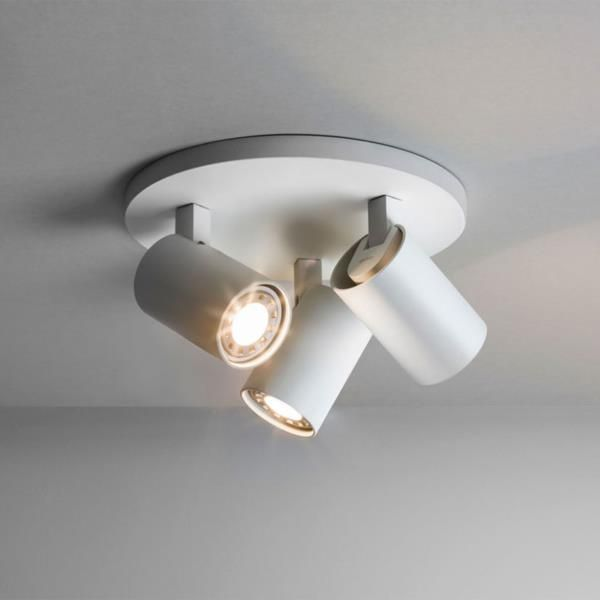 Astro 6143 ascoli triple ceiling spotlight in white buy astro ceiling lights online or collect instore at arrow electrical london 020 8450 lighting shop in