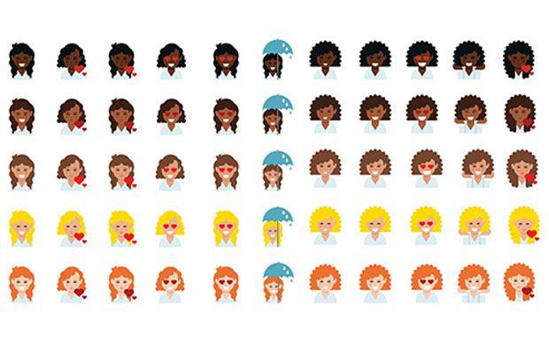 Dove lança Emojis com cabelos cacheados - campanha Love Your Curls;