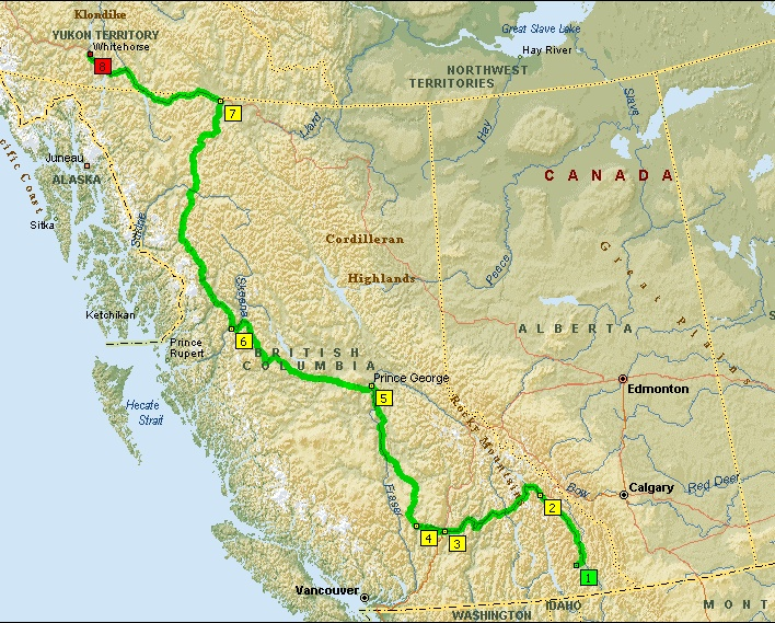 The Cassiar Highway.  For those who want it rougher than the average Al-Can...