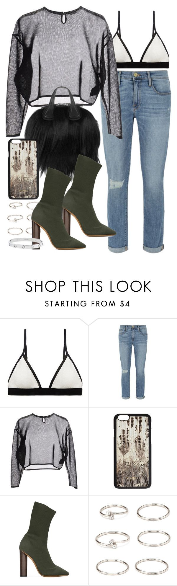 """Sin título #4013"" by hellomissapple ❤ liked on Polyvore featuring Sloane & Tate, Frame Denim, Yves Saint Laurent, Givenchy, adidas Originals, Forever 21 and Cartier"