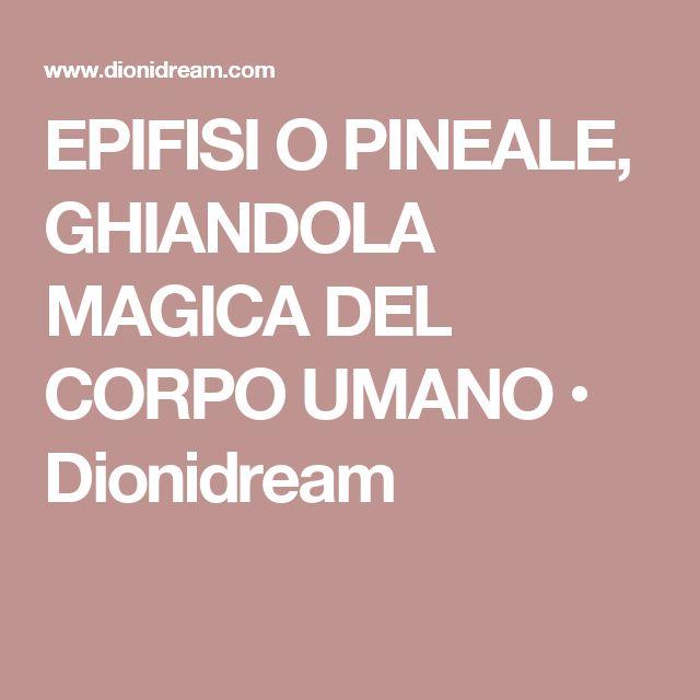 EPIFISI O PINEALE, GHIANDOLA MAGICA DEL CORPO UMANO • Dionidream