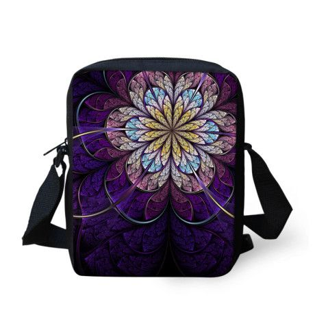 FORUDESIGNS Flower printing women's messenger bags casual vintage ladies small crossbody bag youth sling bag