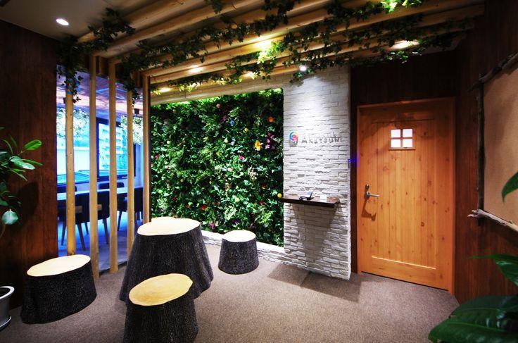 自然を感じるオフィス|オフィスデザイン事例|デザイナーズオフィスのヴィス