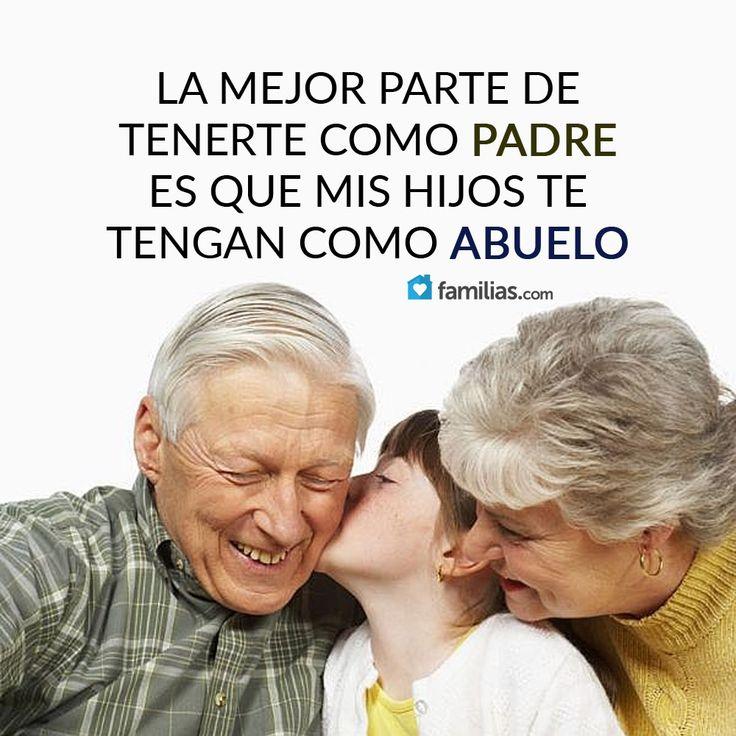 Me encanta que mis hijos tengan a mi padre como abuelo