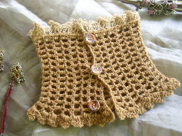 Crochet Stitches For Neck Warmers : crochet neck warmer patterns Ravelry: Silky Camel Lace Neck Warmer ...