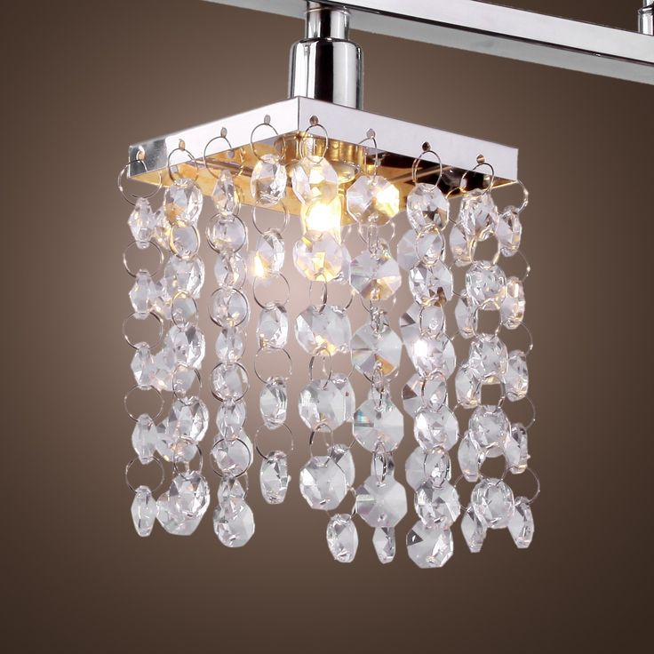LightInTheBox 3 Light Hanging Crystal Linear Chandelier With Solid Metal Fixture Mbox Online Store