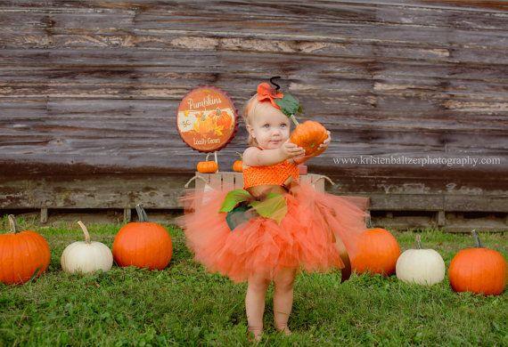 Pumpkin tutu Costume Pumpkin tutu Baby costume Kids