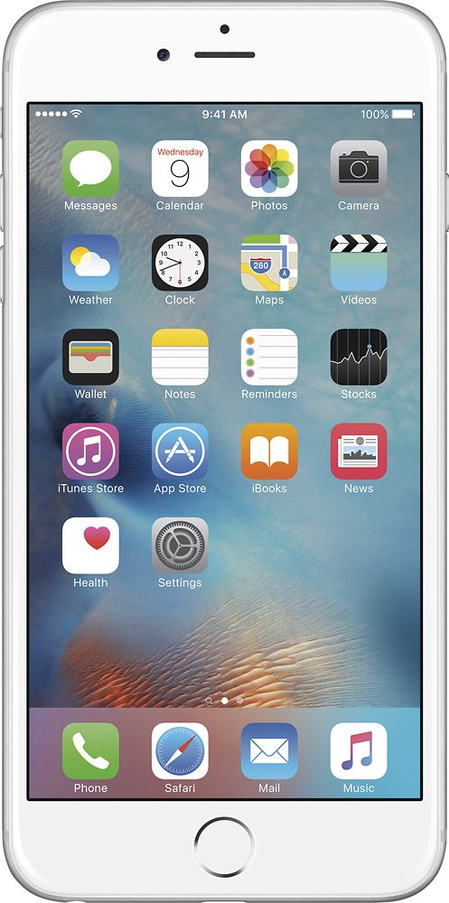 Apple - Refurbished iPhone 6 Plus 64GB - Silver (At&t)