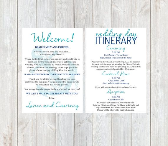 Welcome Letter Wedding Welcome Letter Wedding by DesignandPop