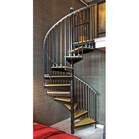 The Iron Shop�3-ft 6-in Ontario Black Baked Enamel Interior Spiral Staircase Kit