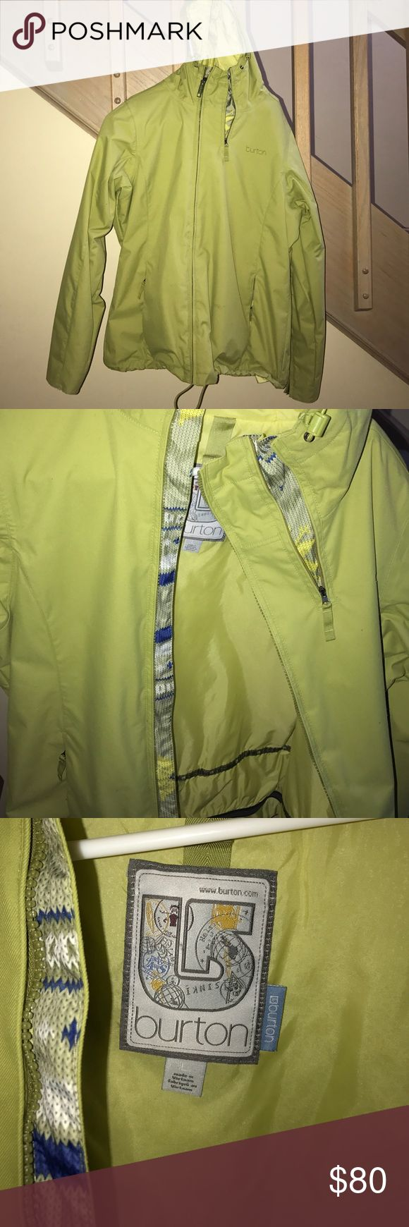 NEW Burton jacket. Worn once. NO TAGS. SIZE LARGE GREEN BURTON JACKET NO TAGS  worn once. GREAT condition. Great jacket!!! Burton Jackets & Coats