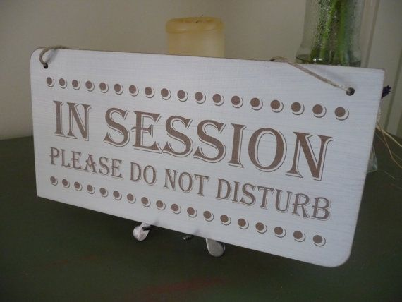 In Session Sign Do Not Disturb Sign Distressed Door Sign by Crafu