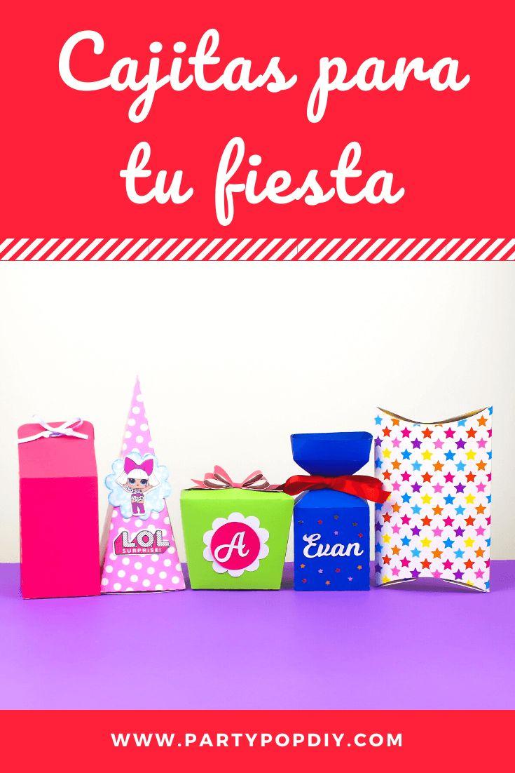 Cajitas para tu fiesta #cajitas #caja #milkbox Baby Shower, Diy, Cakes, Birthday Cards, Sachets, Candy Stations, Parties Kids, House Decorations, Crates