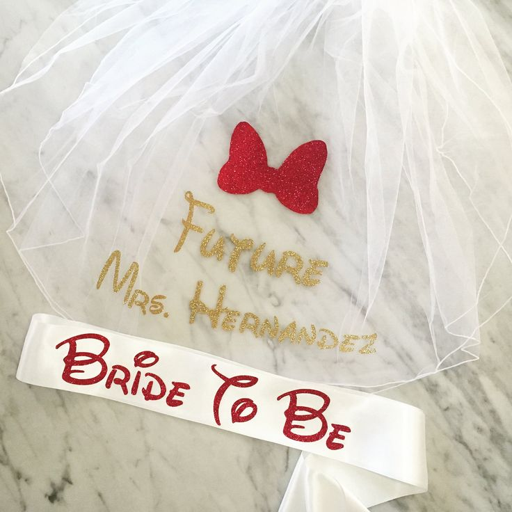 Disney Bachelorette Party Sash and Veil Set, Bachelorette Veil, Disney Bride To Be Sash, Future Mrs Personalized Veil, Gold Glitter Sash
