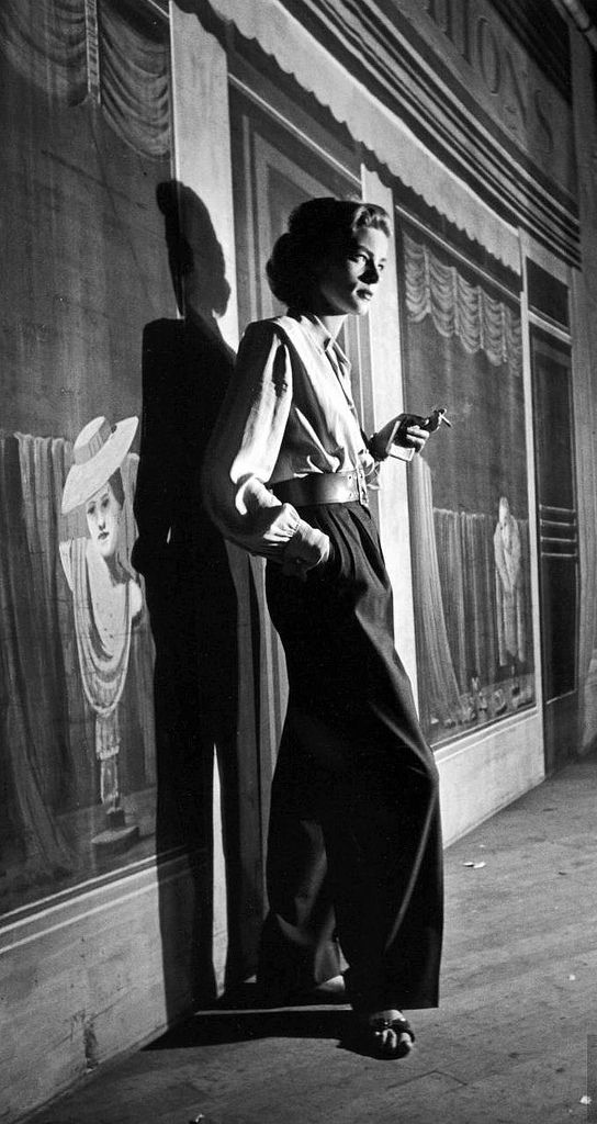 "Lauren Bacall on the set of film, ""Young Man with a Horn"". Photo by Alfred Eisenstaedt, Hollywood, 1949."