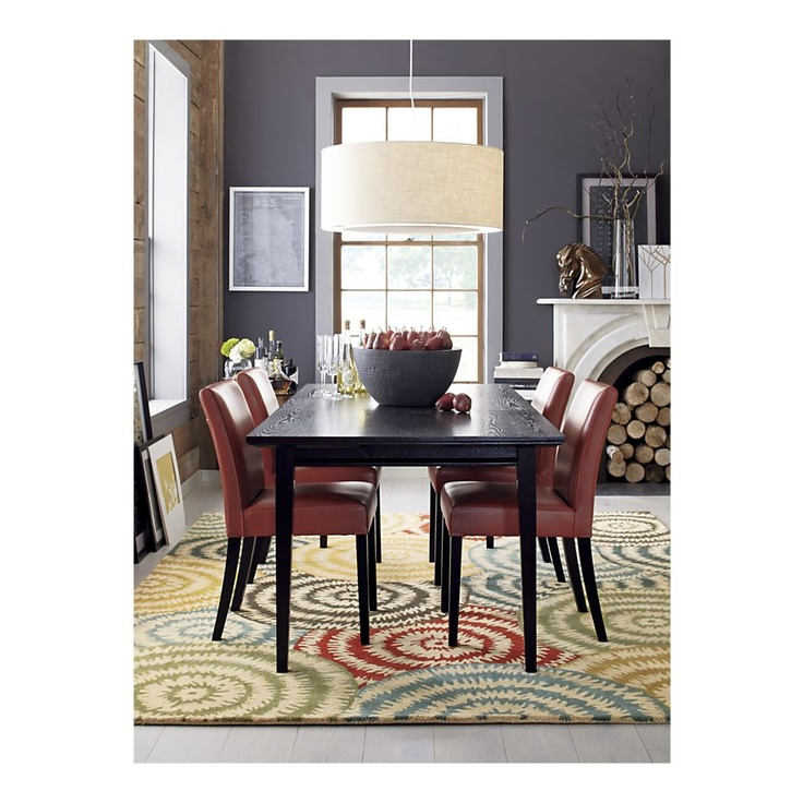 Perfect Dining Room Table Lighting Red LeatherCrate And BarrelBarrel
