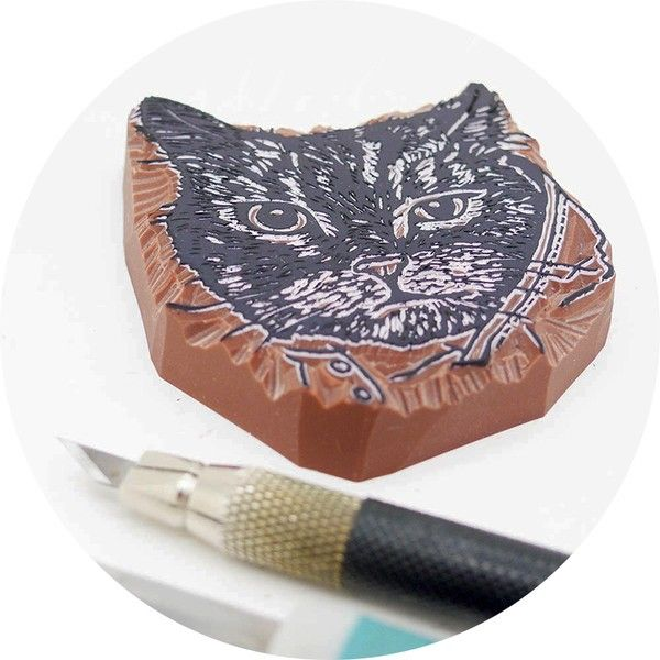 "Why not make a pet of your cats face? ""This is just to say"" creates personalized stamps, absoluteley gorgeous! They are perfect for the pet lover! #nordicdesigncollective #katt #katten #cat #thecat #cuttingboard #animal #meow #kitten #pet #fur #cosy #thisisjusttosay #stamp #personalized #diy #scrapbooking"