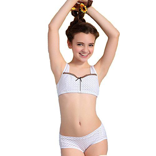 Jeteway Big Girls' Hasp Small Vest Design Wireless Bra Underwear ...