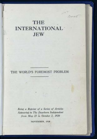 boek 'The International Jew' Henry Ford dat Hitler inspireerde (Wikimedia commons)