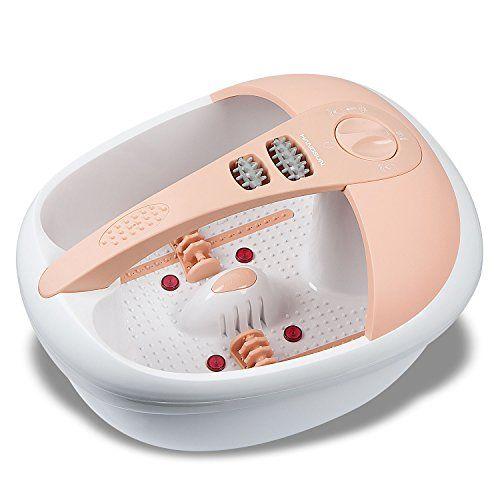 Este baño de burbujas cuenta con un amplio equipamiento: • Soporte para los pies que ayuda al masaje, • 3 niveles de funcionamiento: masaje vibratorio, masaje con burbujas y calentamiento del agua, • Campo de luz infrarroja  Relaje sus pies y todo su cuerpo con este baño para los pies, que... http://comprarmasajeadores.com/pies/hangsun-hidromasaje-para-pies-masajeador-electricos-fm200-spa-pies-con-calor-infrarrojo-y-la-terapia-magnetica-para-cuidado-de-los-pies/