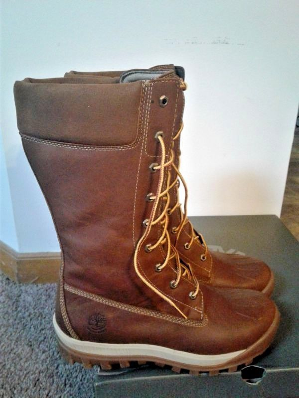 Timberland Women's Woodhaven Tall Waterproof Boots Brown Full Grain Size 9 M #Timberland #MidCalfBoots