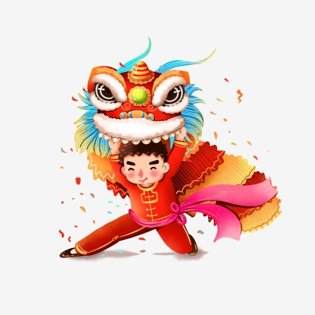 Lion Dance Cartoon Chinese Decoration Lion King Dance Festive Accessories Red Png Transparent Clipart Image And Psd File For Free Download Chinese Lion Dance Lion Dance Cartoon Lion